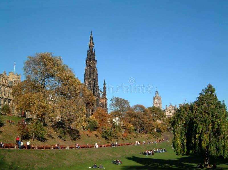 Scott monument. In Princes street gardens, Edinburgh stock image