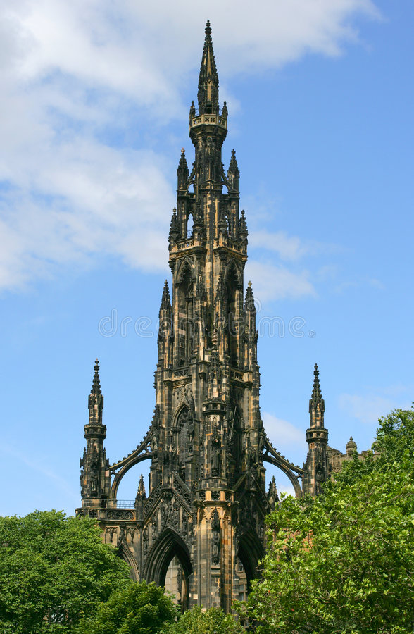 The Scott Monument. An image of the Scott Monument in the beautiful city of Edinburgh, Scotland stock images