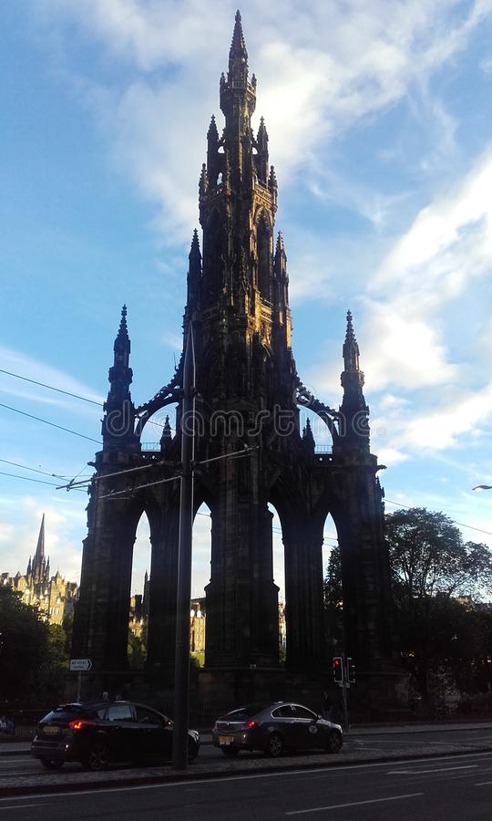 The scott monument royalty free stock photos
