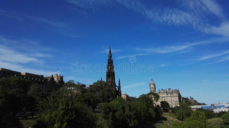 Scott Monument i den Skottland Edinburg royaltyfri bild