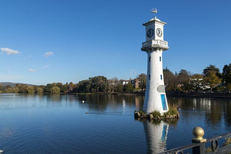 Scott Monument, lac park de Roath, Cardiff, Pays de Galles, R-U photo libre de droits