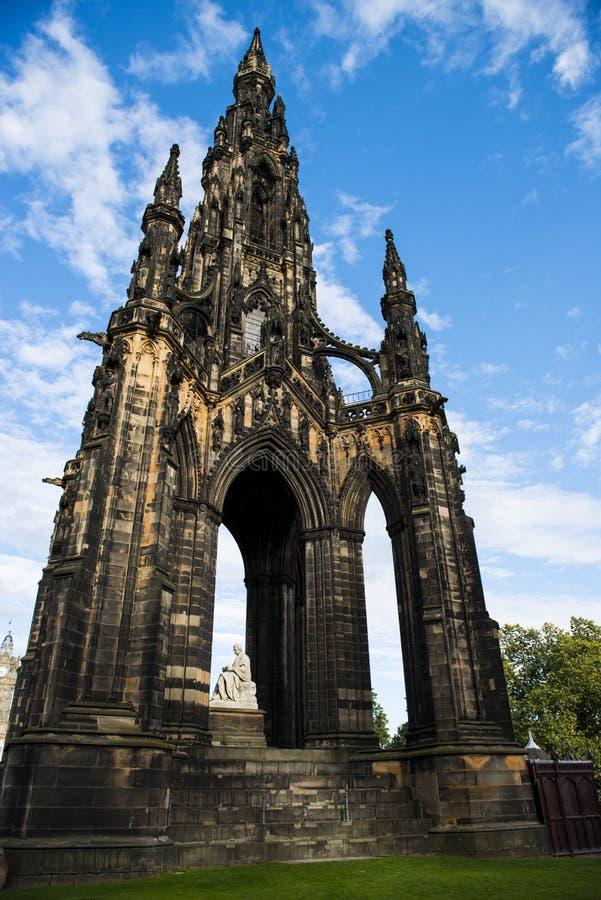 Scott Monument. The Scott monument on princes street, Edinburgh stock images