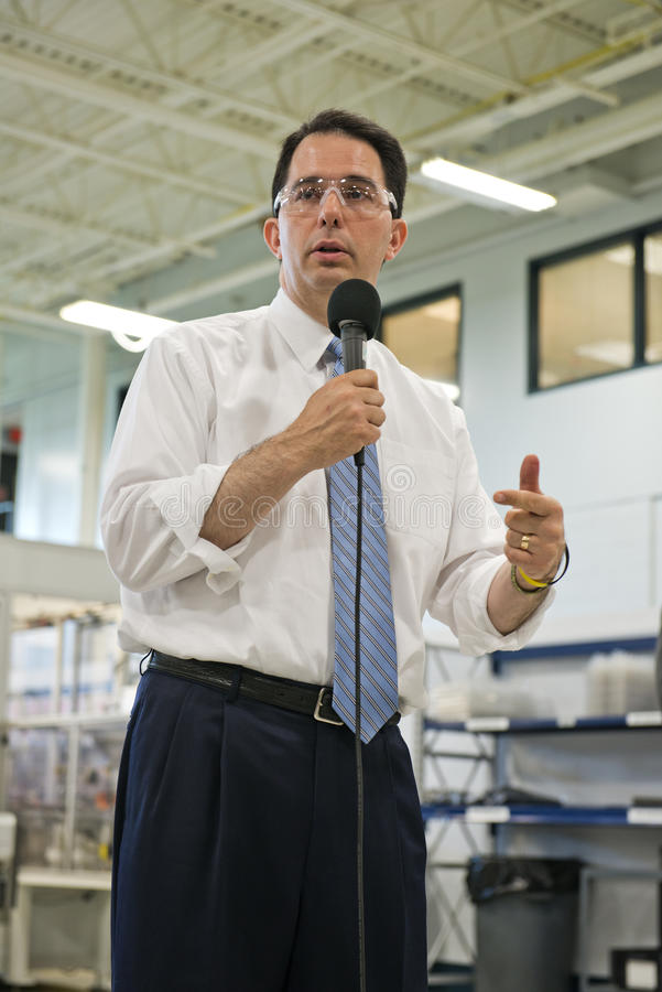 Scott Walker, Wisconsin State Governor royalty free stock photography