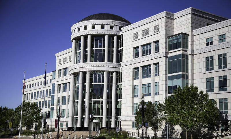 Scotte Matheson gerechtsgebouw, het Hof van de Staat van Utah stock foto's