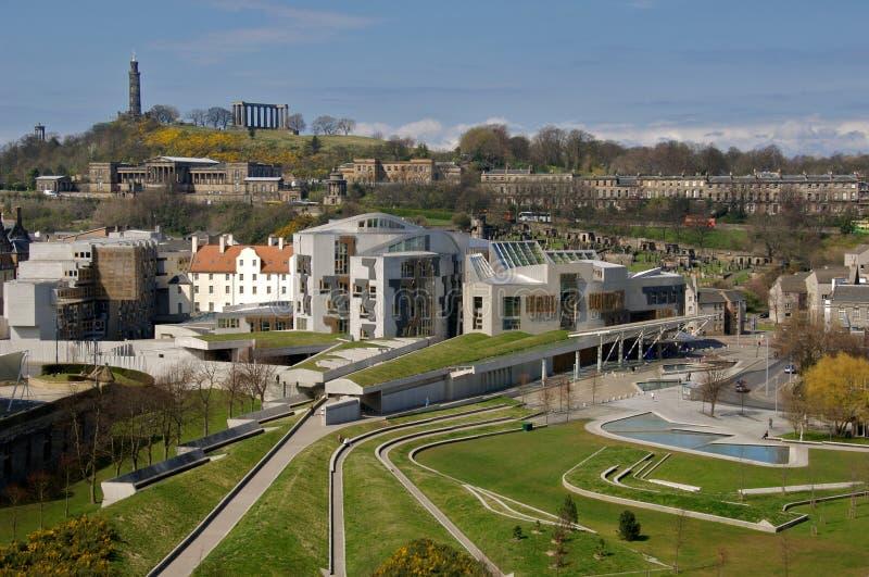 scottish парламента здания стоковое изображение rf