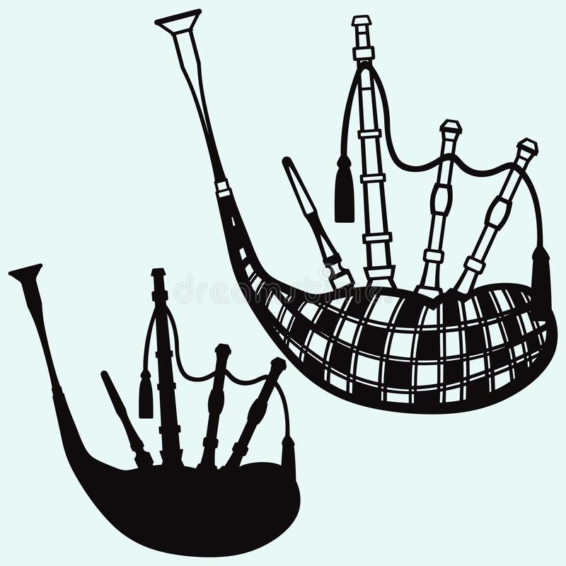 Scottish bagpipe stock illustration