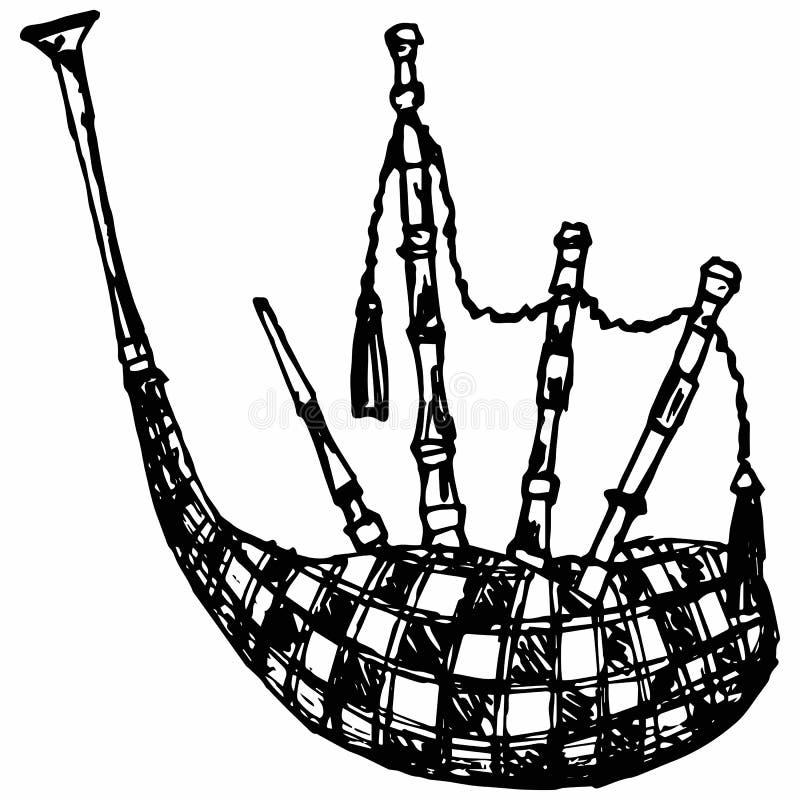 Scottish bagpipe royalty free illustration