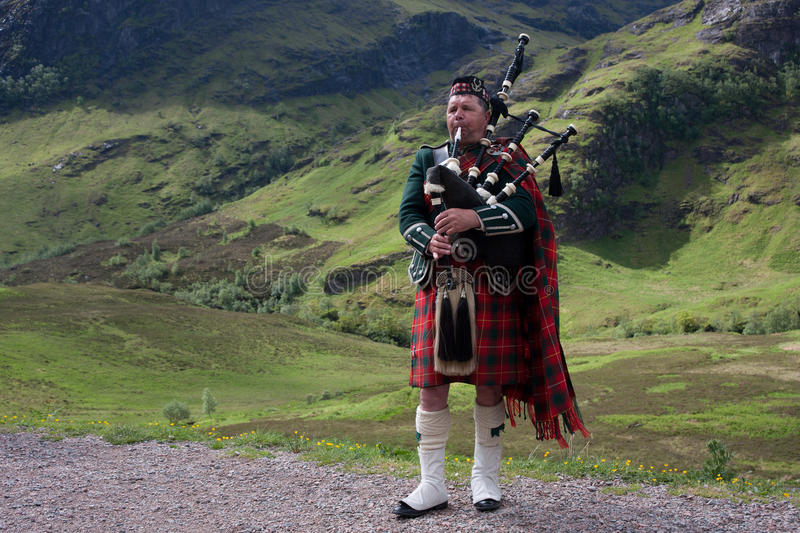 Scottish bagpipes royalty free stock photography
