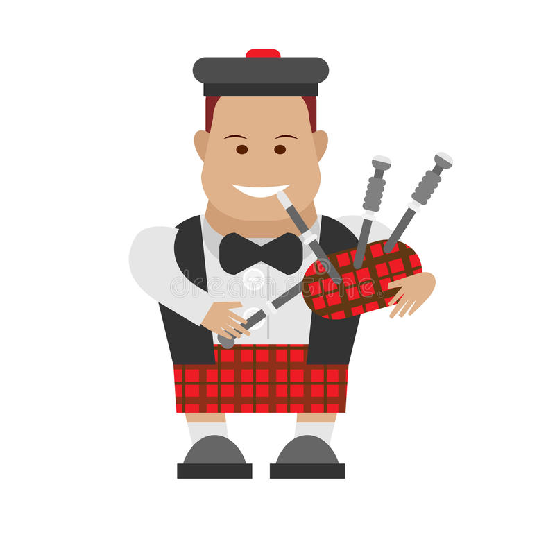 Download Scottish bagpipes stock vector. Image of scottish, bagpipes - 33911691