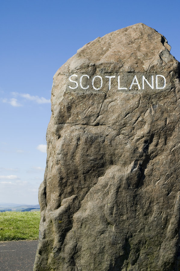 Download Scottish Border Marker stock photo. Image of marker, landmark - 1228540