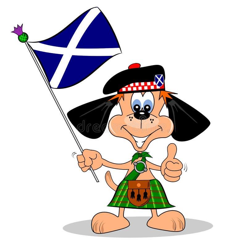 Download Scottish Cartoon Dog stock vector. Image of flag, animal - 29118467