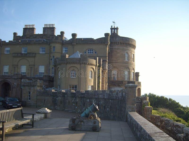 Scottish Castle overlooking Ocean royalty free stock photos