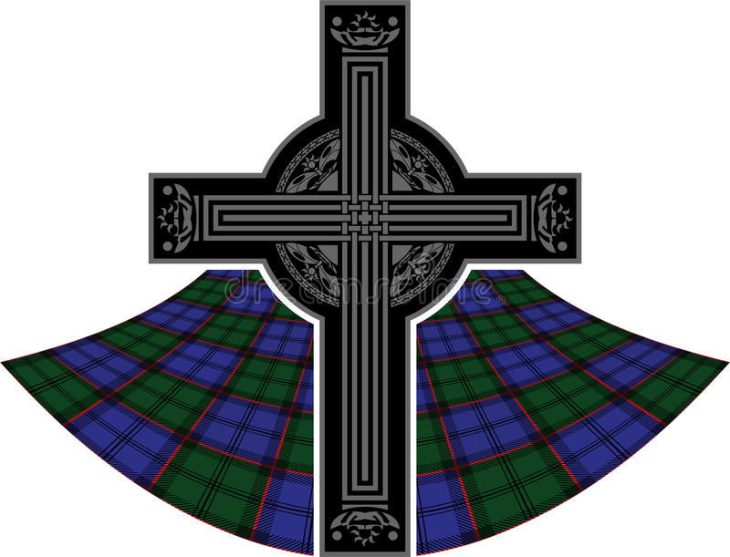 Scottish Celtic Cross Stock Images