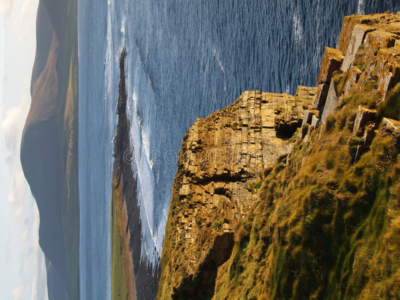 Scottish cliff shores royalty free stock photos