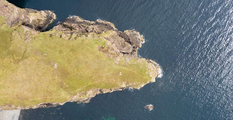 Aerial view of the spectacular coastlines in Scotland stock image