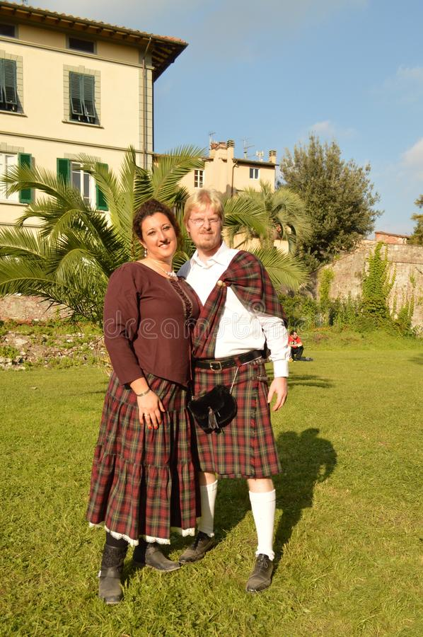 Scottish cosplayers at Lucca Comics and Games 2014 stock photo