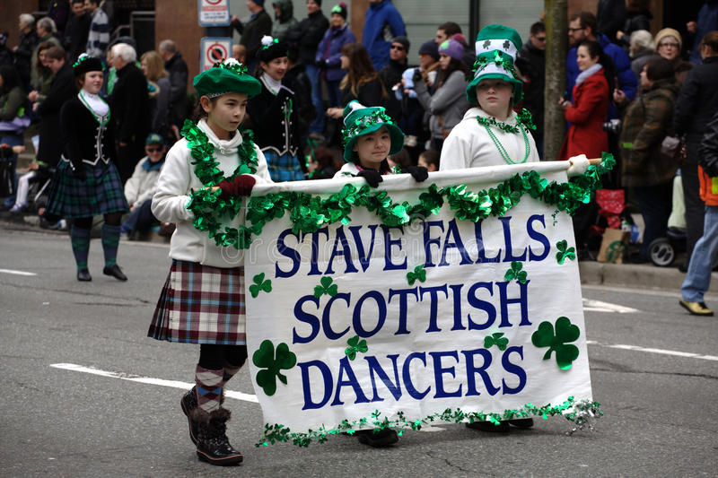 Scottish Dancers, St. Patrick's Day Parade stock images