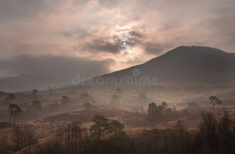 Scottish dawn royalty free stock photo