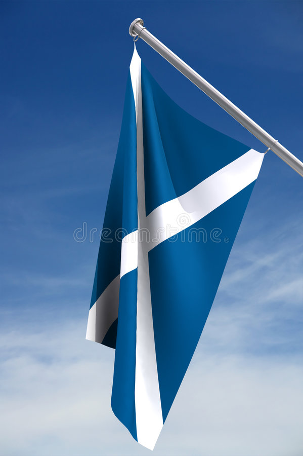 Scottish Flag royalty free illustration