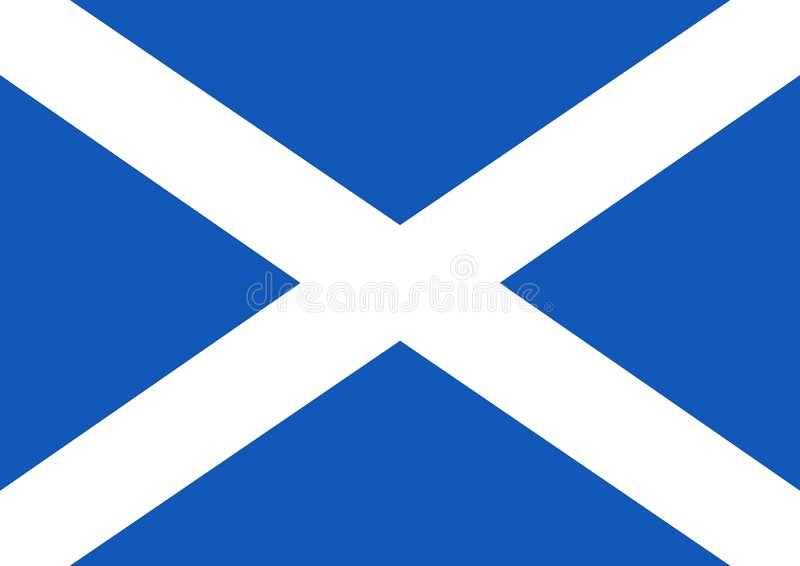 Scottish Flag vector illustration