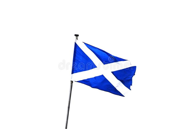 The Flag of Scotland stock photography