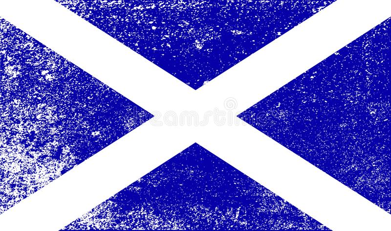 Scottish Flag With Grunge vector illustration