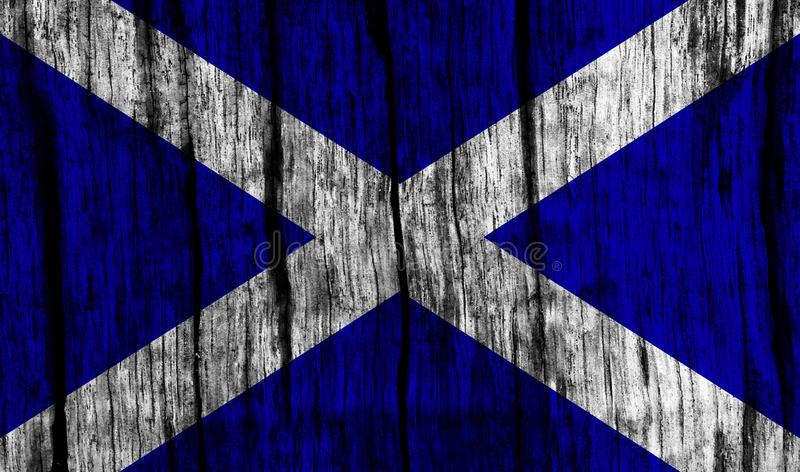 Scottish Flag stock illustration