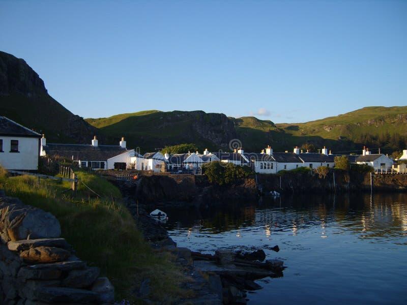 Scottish Island Community Landscape royalty free stock image