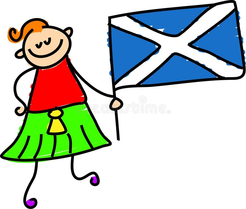Scottish kid royalty free illustration