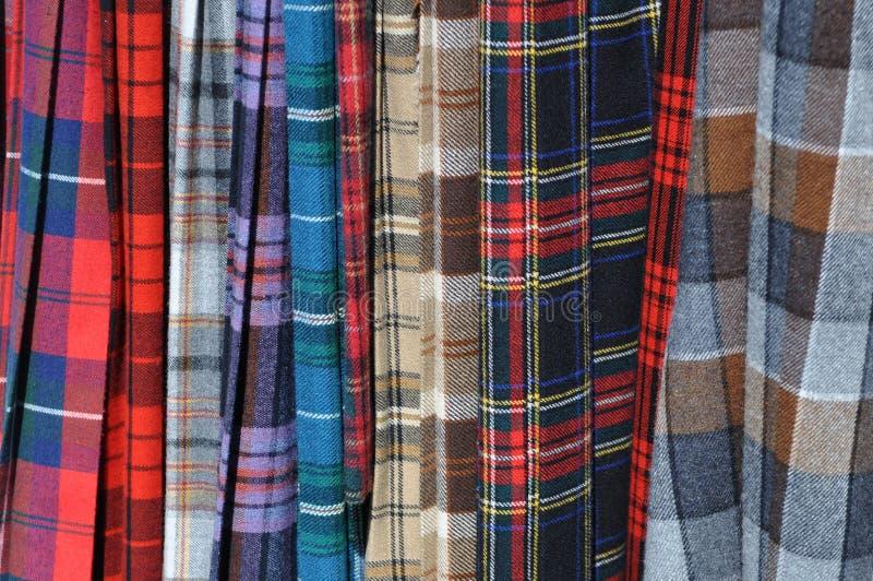 Scottish Kilts royalty free stock photos