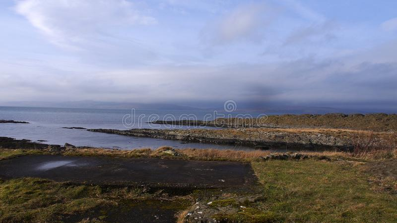 Scottish landscape and loch. View stock photo