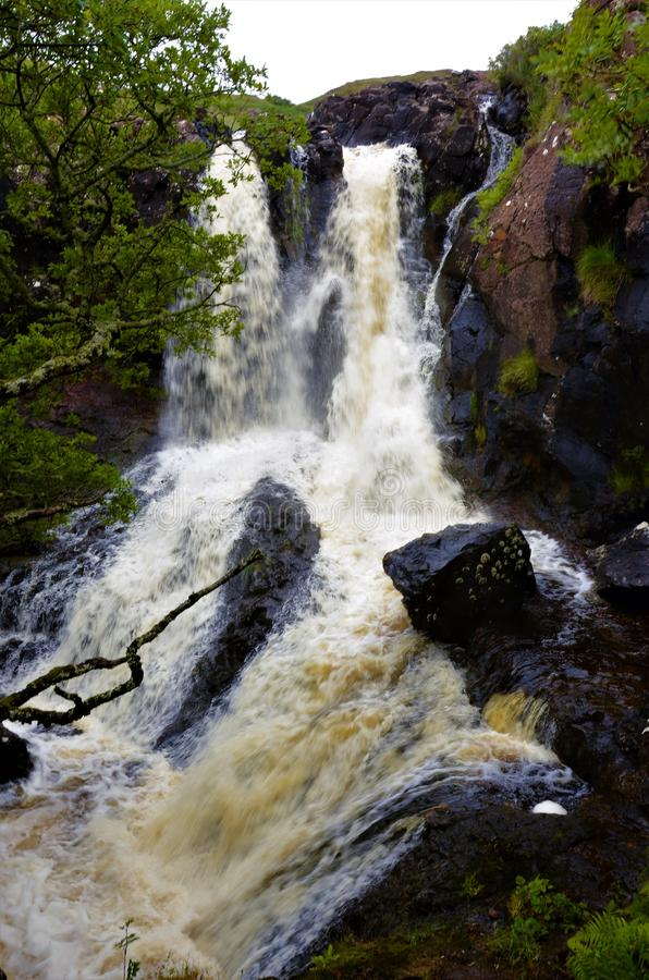 Free Scottish Landscapes -Eas Fors Waterfall Stock Photo - 125242910