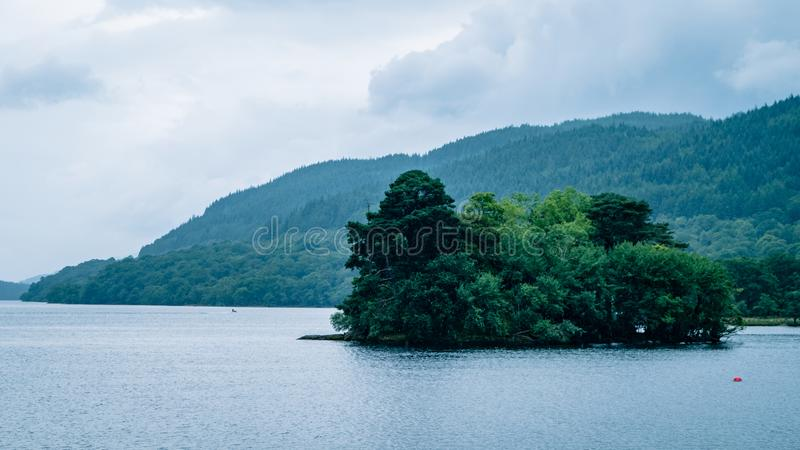 Scottish Loch Scene Great Britain United Kingdom. Very much one of the main tourist attractions and points of interest in the area stock photos