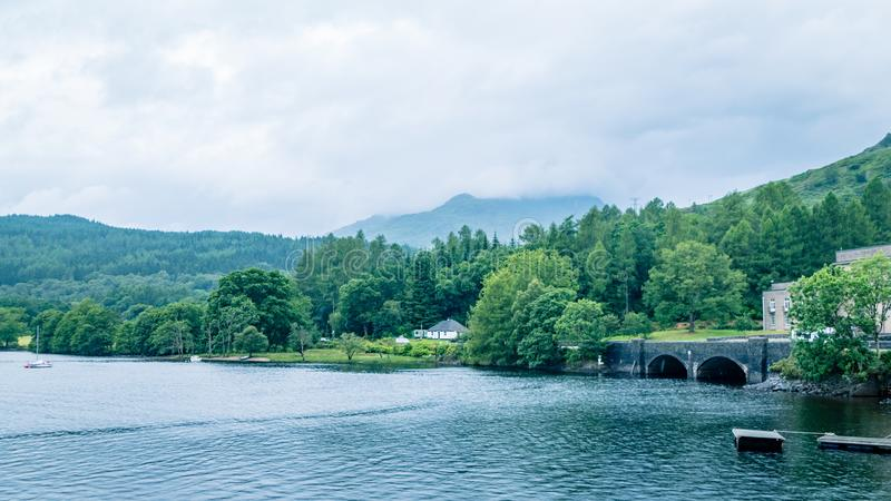 Scottish Loch Scene Great Britain United Kingdom. Very much one of the main tourist attractions and points of interest in the area royalty free stock photography
