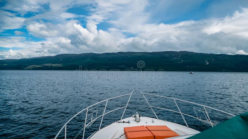 Scottish Loch Scene Great Britain United Kingdom. Very much one of the main tourist attractions and points of interest in the area stock photography