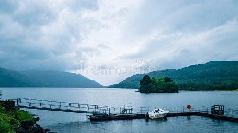 Scottish Loch Scene Great Britain United Kingdom. Very much one of the main tourist attractions and points of interest in the area royalty free stock images
