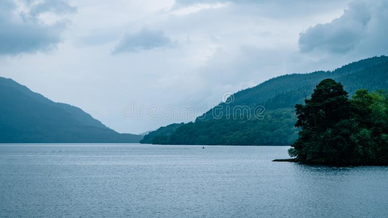 Scottish Loch Scene Great Britain United Kingdom. Very much one of the main tourist attractions and points of interest in the area stock images