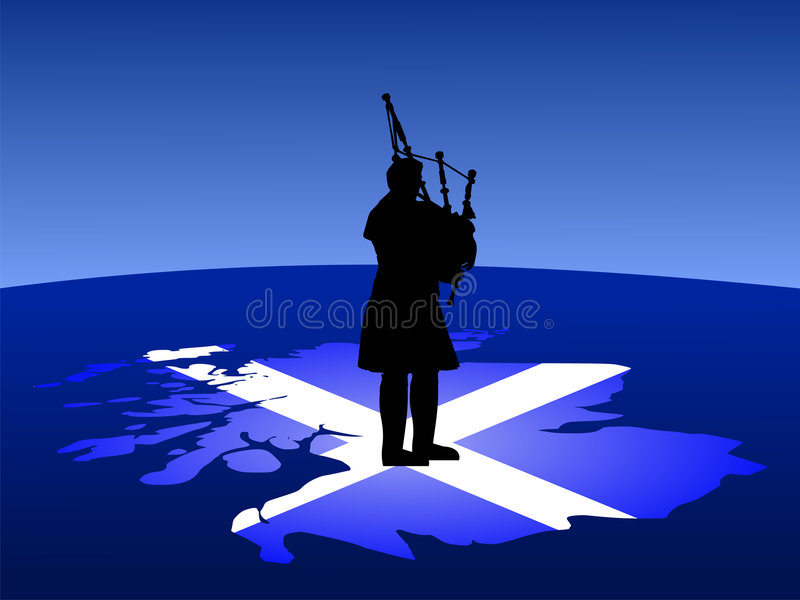Download Scottish Man Playing Bagpipes Stock Vector - Illustration: 2832331