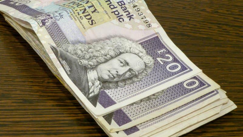 Scottish money stock photography