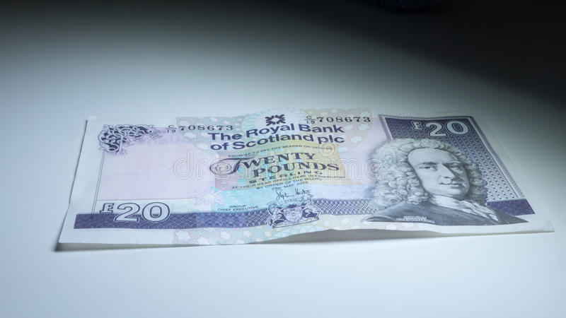 Scottish money royalty free stock image
