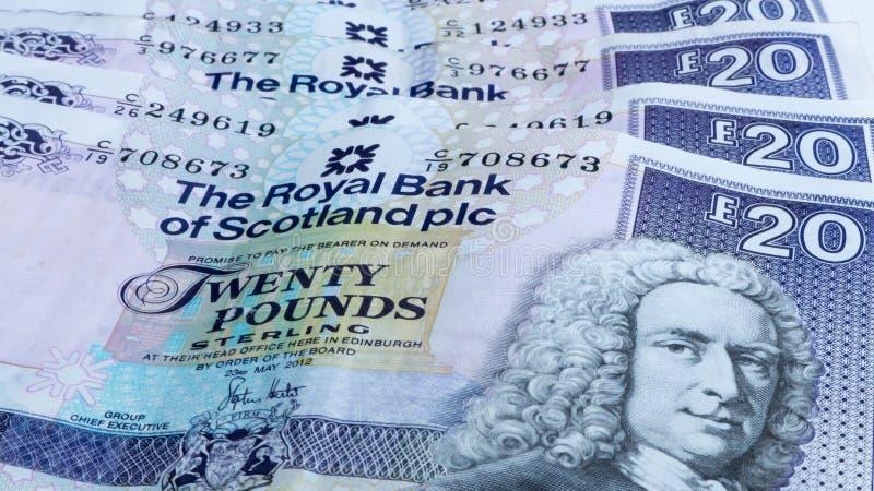 Scottish money stock image