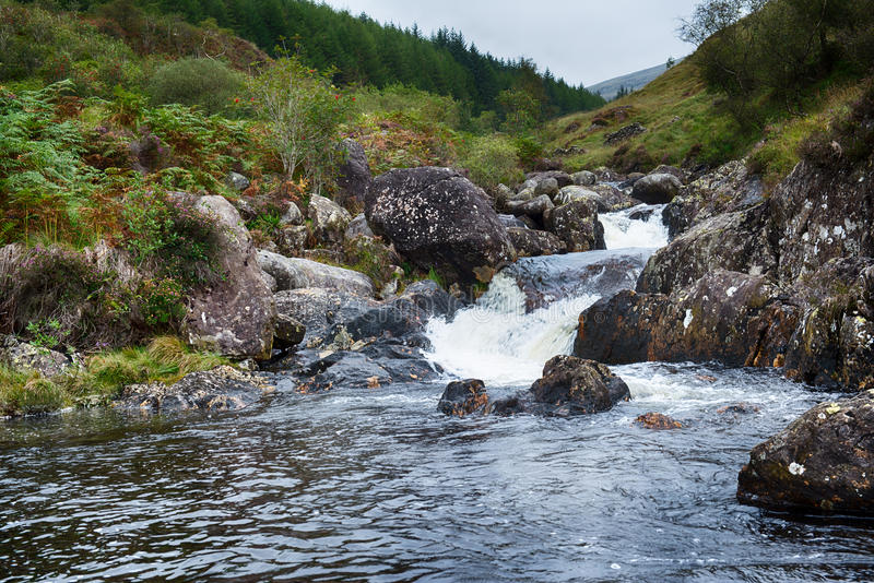 Scottish mountain river stock images