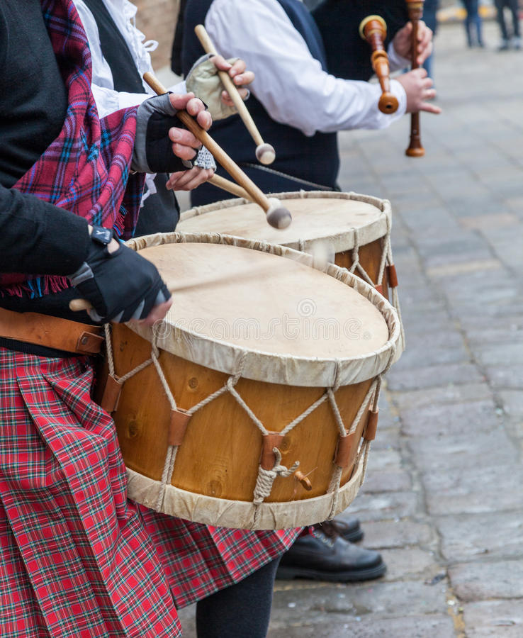Scottish Musical Band- Detail royalty free stock photos
