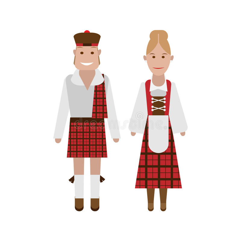 Download Scottish national costume stock vector. Image of illustration - 33410983