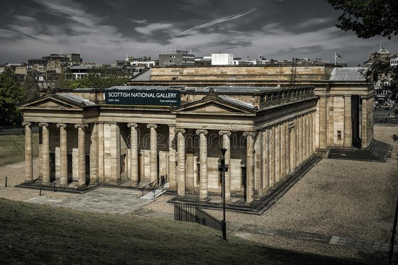 Scottish national gallery, Edinburgh stock images
