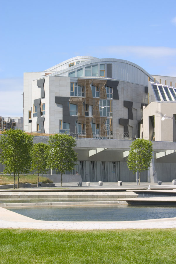 Download Scottish Parliament 3 stock image. Image of clouds, modern - 199571