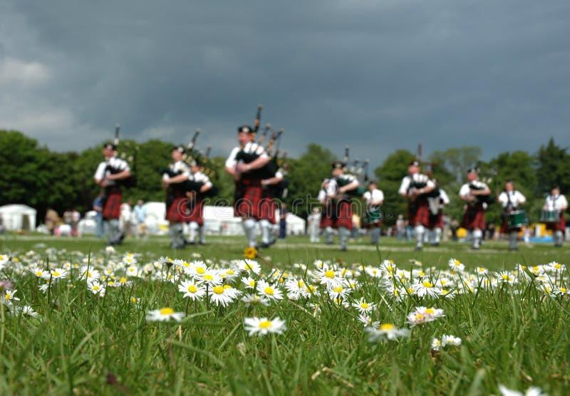 Scottish Pipe Band stock images