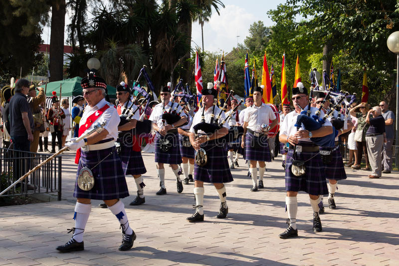 Scottish Pipers Editorial Stock Image