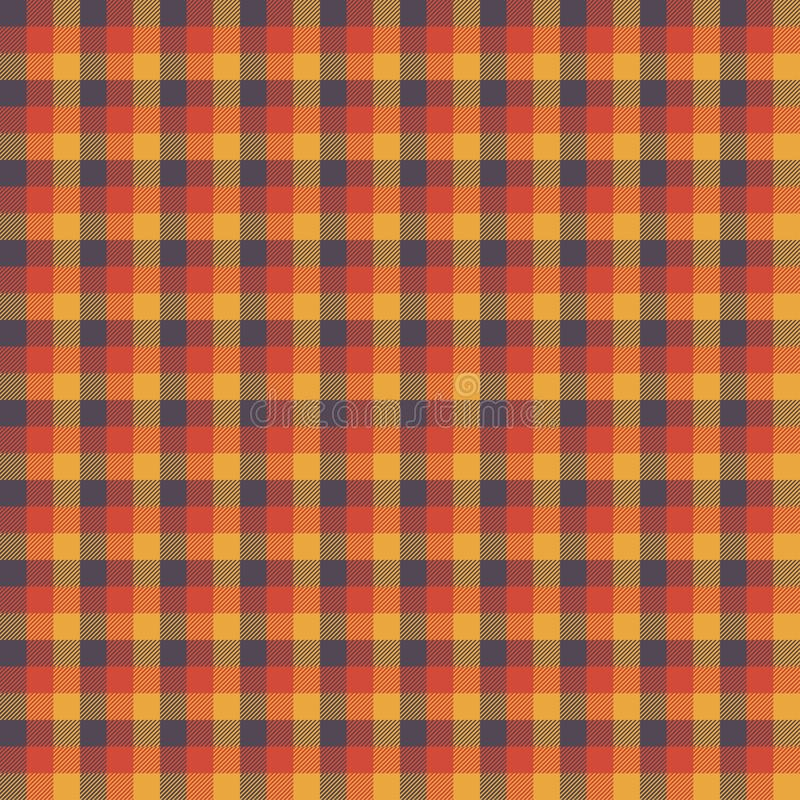Scottish plaid orange seamless checkered vector pattern. EPS 10 royalty free stock photos