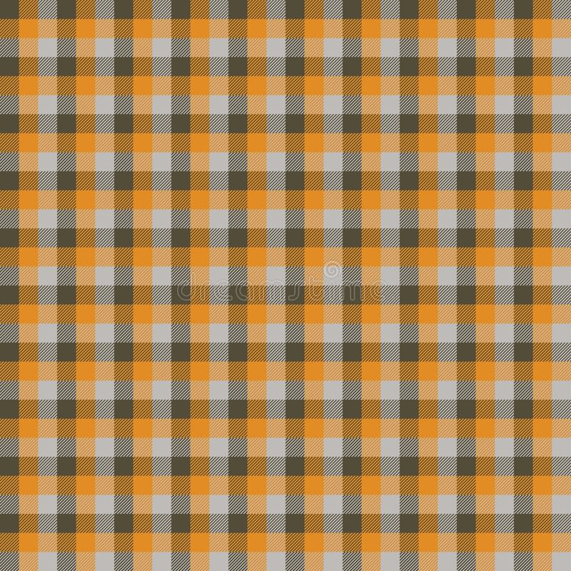 Scottish plaid orange seamless checkered vector pattern. EPS 10 royalty free illustration